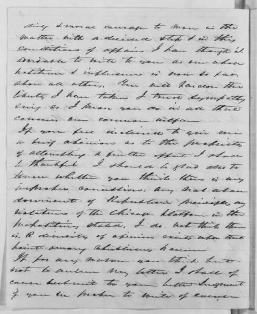 James T. Hale to Abraham Lincoln, Sunday, January 06, 1861  (Proposal to settle agitation over slavery)