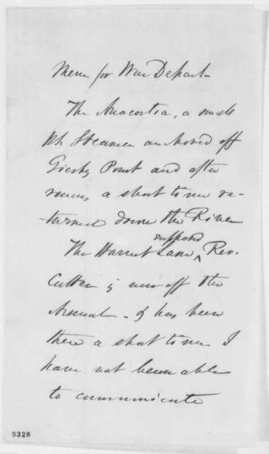 John A. Dahlgren, Monday, April 22, 1861  (Memorandum on gunboats near Washington)