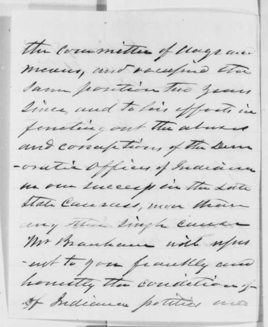 John B. Cravens and Cyrus M. Allen to Abraham Lincoln, Monday, January 21, 1861  (Introduction)