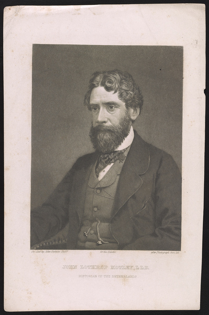 John Lothrop Motley, L.L.D. historian of the Netherlands / on steel by John Sartain, Phila., after photograph from life.