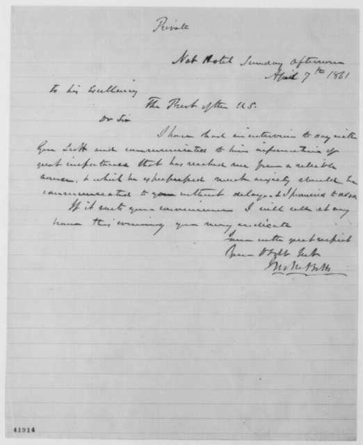 John M. Botts to Abraham Lincoln, Sunday, April 07, 1861  (Seeks interview)