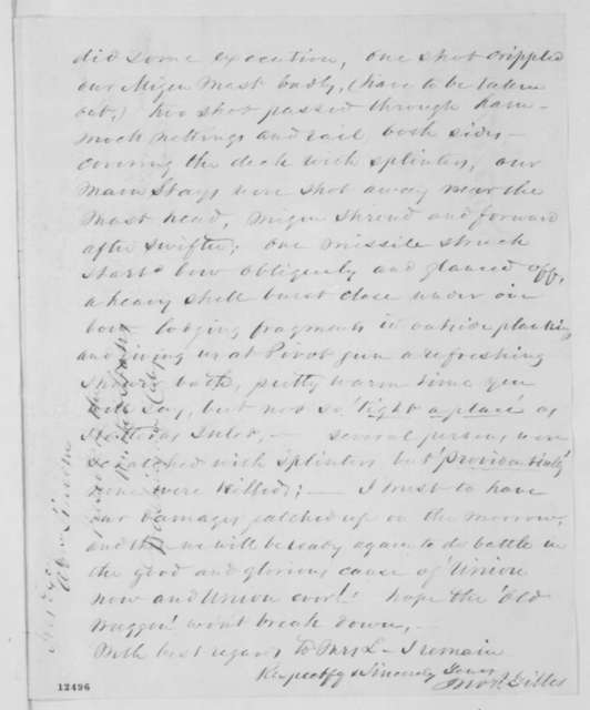 John P. Gillis to Abraham Lincoln, Wednesday, October 16, 1861  (Account of an engagement along the Potomac)