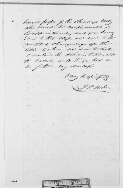 John P. Usher to Abraham Lincoln, March 1861  (Recommendation)
