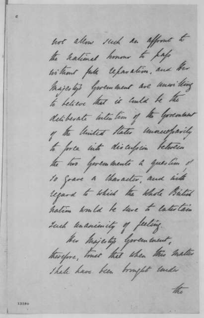 John Russell to Richard B. Pemell, Lord Lyons, Saturday, November 30, 1861  (Trent Affair, with Note from Pemell to Seward)