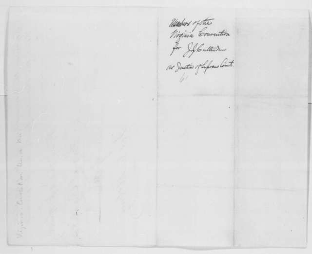 John S. Carlile, William G. Brown, and James C. McGrew to Abraham Lincoln, Sunday, March 10, 1861  (Virginia Union men recommend Crittenden for Supreme Court)