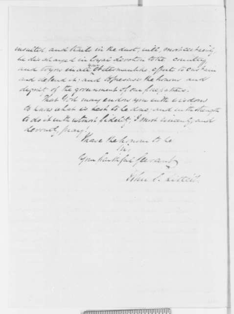 John S. Littell to Abraham Lincoln, Wednesday, April 17, 1861  (Sends responses to Lincoln's proclamation)