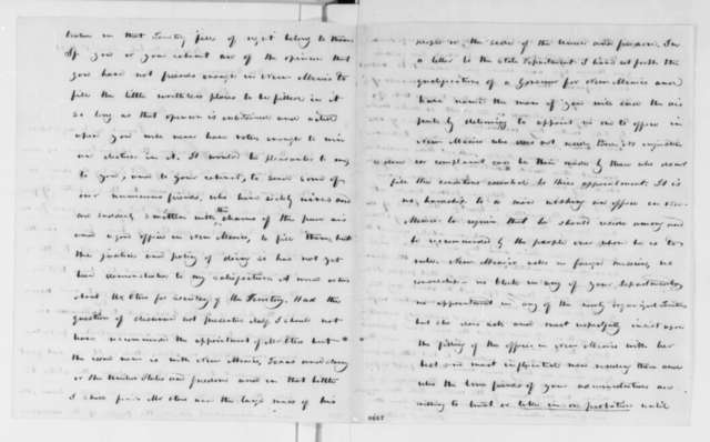 John S. Watts to Abraham Lincoln, Monday, April 01, 1861  (New Mexico appointments)