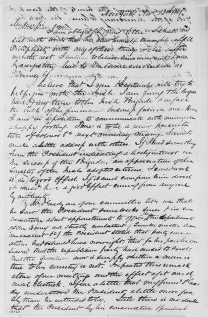 John T. Doyle to Montgomery Blair, Wednesday, November 13, 1861  (Formation of Irish Brigade)