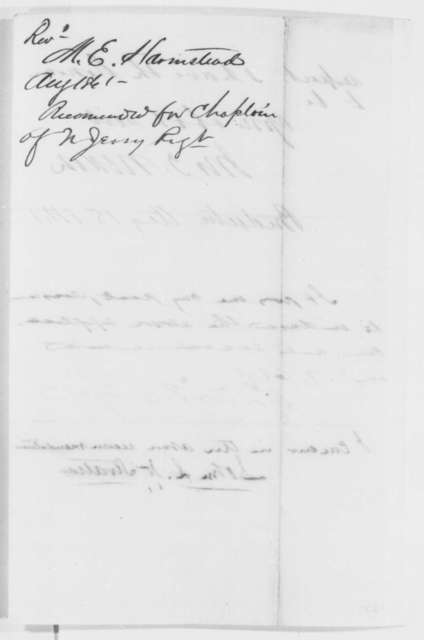 John T. Nixon, et al. to Abraham Lincoln, Thursday, August 15, 1861  (Recommendation)