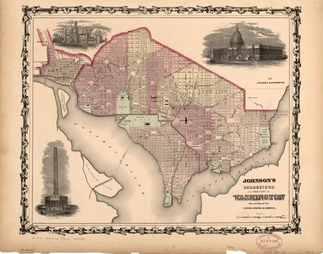 Johnson's Georgetown and the city of Washington : the capital of the United States of America /