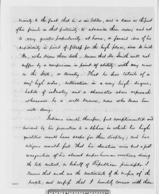 Jonathan W. Gordon to Abraham Lincoln, Thursday, January 03, 1861  (Recommendation for Caleb Smith)