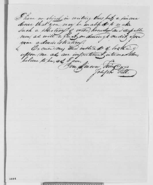Joseph Fell to Abraham Lincoln, Tuesday, January 01, 1861  (Cameron)