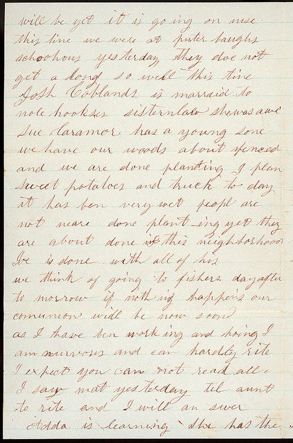 Letter from Sarah A. Murray, Jacob H. Murray, Susie Murray to Uriah W. Oblinger, June 1, 1861