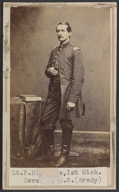 Lieut. F. H. Rogers, Adjutant 1st Battalion, 1st Michigan Cavalry / Brady's National Photographic Galleries, Broadway & Tenth Street, New York & No. 352 Pennsylvania Av., Washington, D.C.