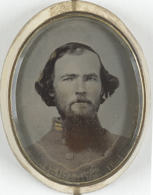 [Lieutenant Hiram L. Hendley of Co. A, 9th Tennessee Cavalry Battalion, in silver brooch]