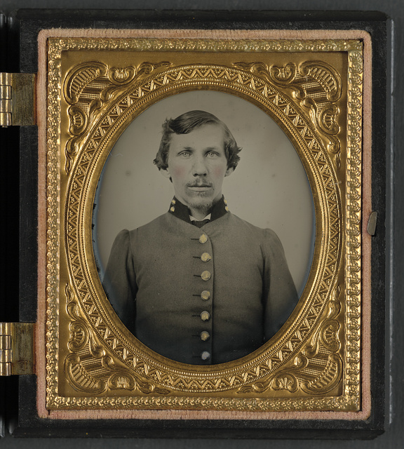 [Lieutenant Smith Whitfield of Co. B, 24th Tennessee Infantry Regiment in uniform]