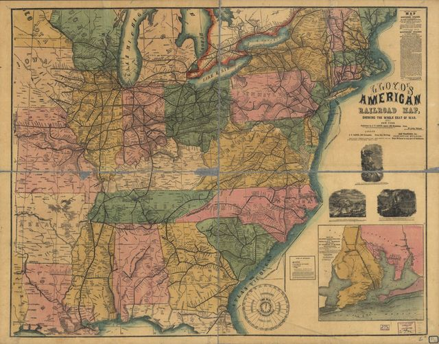 Lloyd's American railroad map, showing the whole seat of the war.