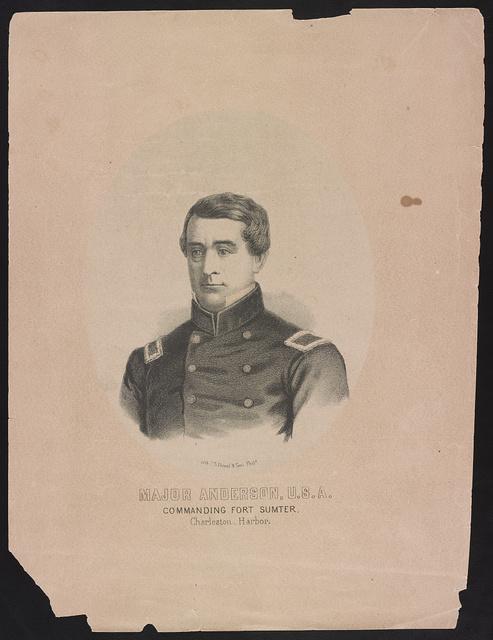 Major Anderson, U.S.A. commanding Fort Sumter, Charleston Harbor / lith. P.S. Duval & Son, Phila.