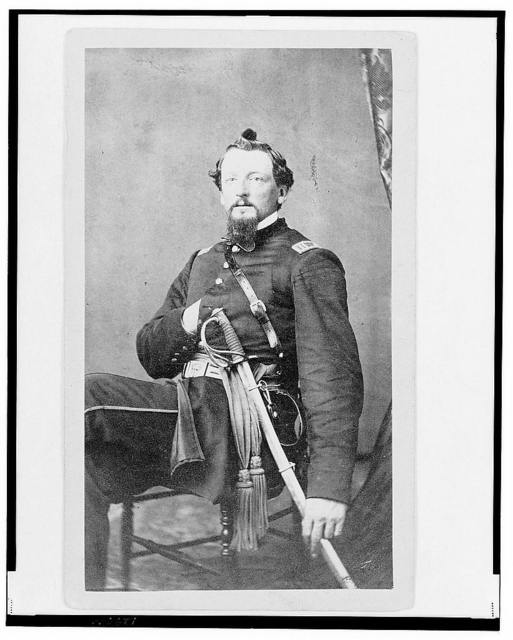 [Major Charles S. Cotter, Union officer, Chief of Artillery, full-length portrait, seated, facing front] / from Hoag & Quick's Art Palace, Cincinnati, O.