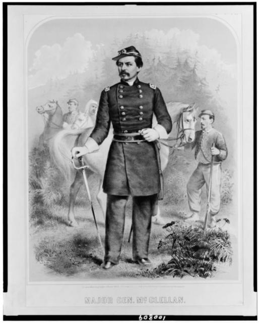 Major Gen. McClellan / Fab[...], lithographed & published by C.D. Andrews & Co.