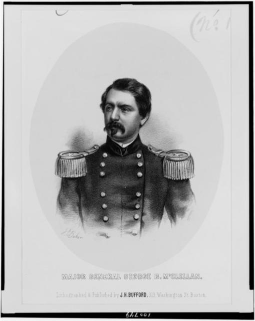 Major General George B. M'Clellan / J.E. Baker ; lithographed & published by J.H. Bufford.