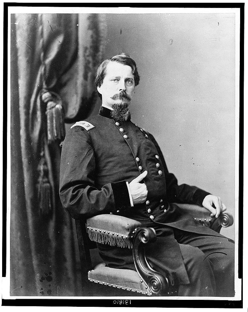 [Major General Winfield S. Hancock, three-quarter length portrait, seated, facing front]