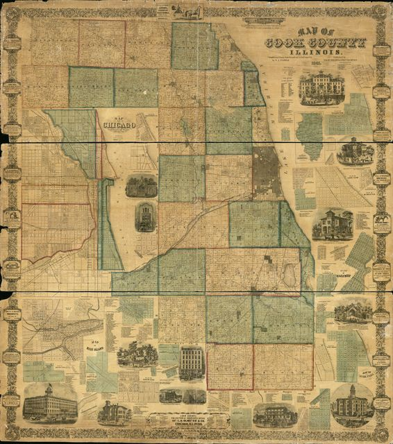 Map of Cook County, Illinois /
