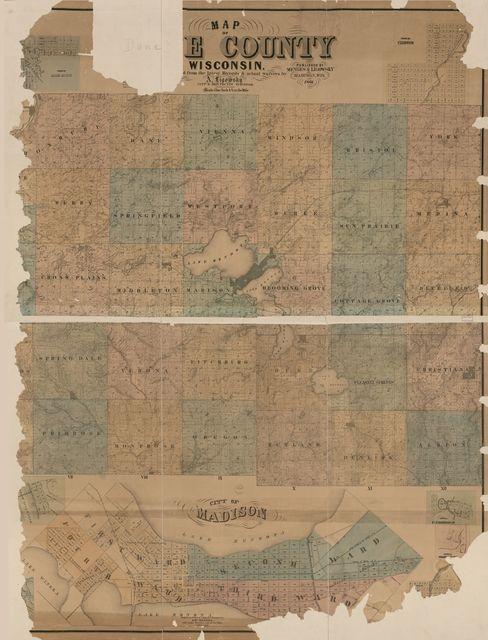 Map of Dane County, Wisconsin /