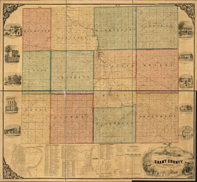Map of Grant County, Indiana /