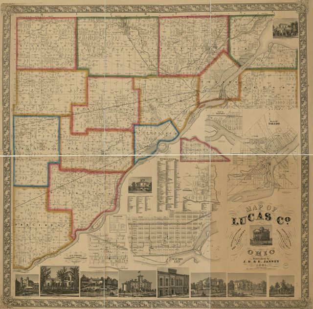Map of Lucas Co., Ohio /
