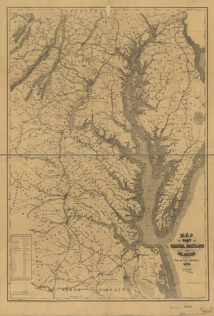 Map of part of Virginia, Maryland, and Delaware : from the best authorities /
