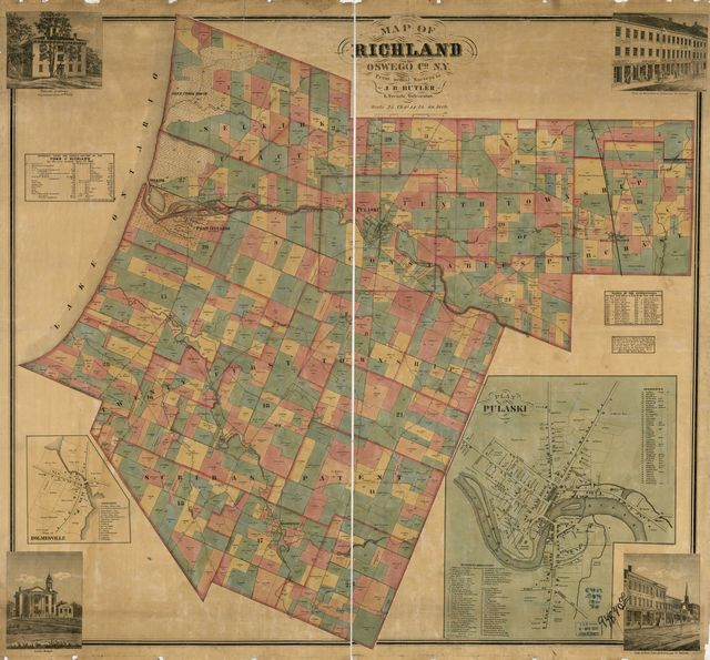 Map of Richland, Oswego Co. N.Y. : from actual surveys /