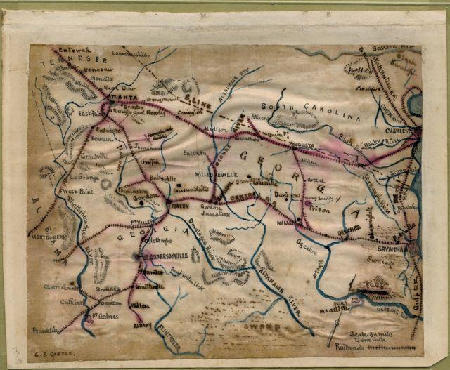 [Map of South Carolina, Georgia, Alabama, and Tennessee.]