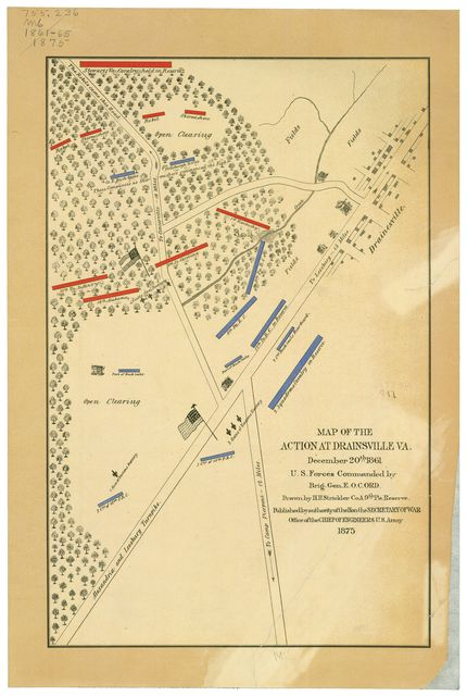 Map of the action at Drainsville, Va., December 20th 1861 : U.S. forces commanded by Brig Gen. E.O.C. Ord. /