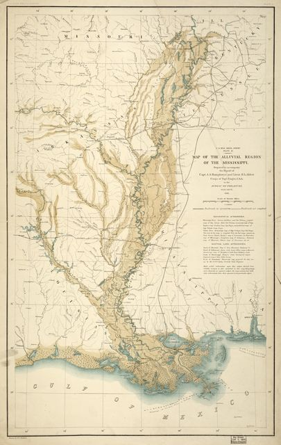 Map of the alluvial region of the Mississippi /