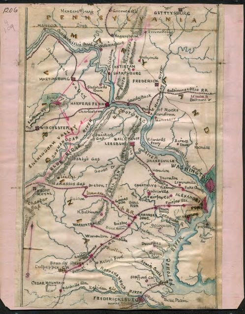 [Map of the Potomac River].