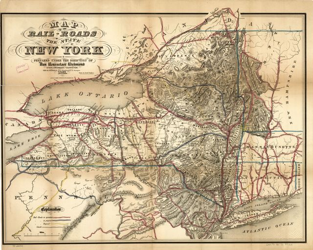 Map of the rail-roads of the state of New York prepared under the direction of Van Renssselaer Richmond, state engineer and surveyor; Geo R. Perkins, Dep State Engineer & Surveyor.