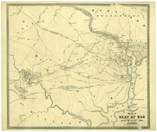Map of the seat of war showing the battles of July 18th & 21st, 1861 /