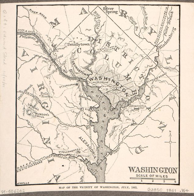 Map of the vicinity of Washington, July, 1861 /