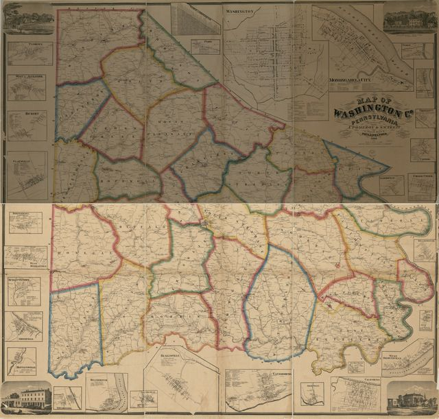 Map of Washington Co., Pennsylvania : from actual surveys /