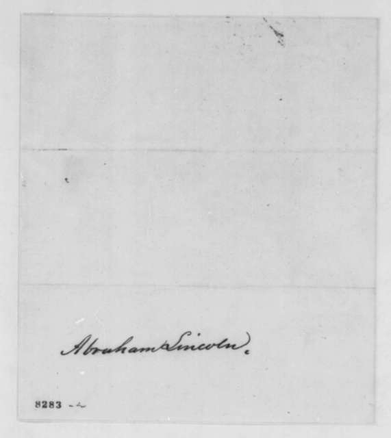 Mary Hancock Colyer to Abraham Lincoln, Friday, March 22, 1861  (Sends autograph of John Hancock)