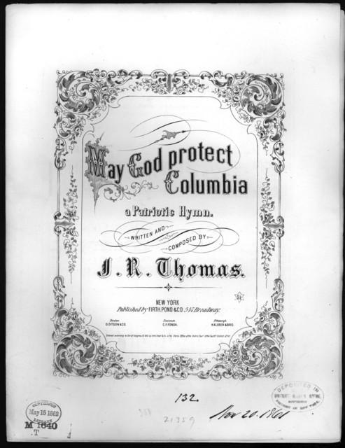 May god protect Columbia