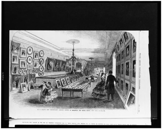 M.B. Brady's new photographic gallery, corner of Broadway and Tenth Street, New York / A. Berghaus del.