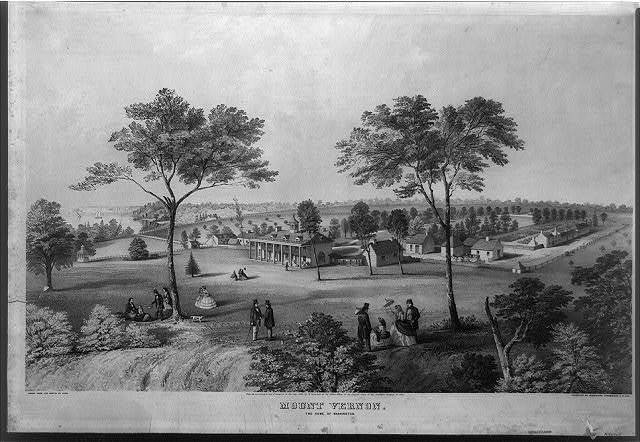 Mount Vernon, the home of Washington / drawn from the sketch by Kern ; executed by Middleton, Strobridge & Co., Cin.