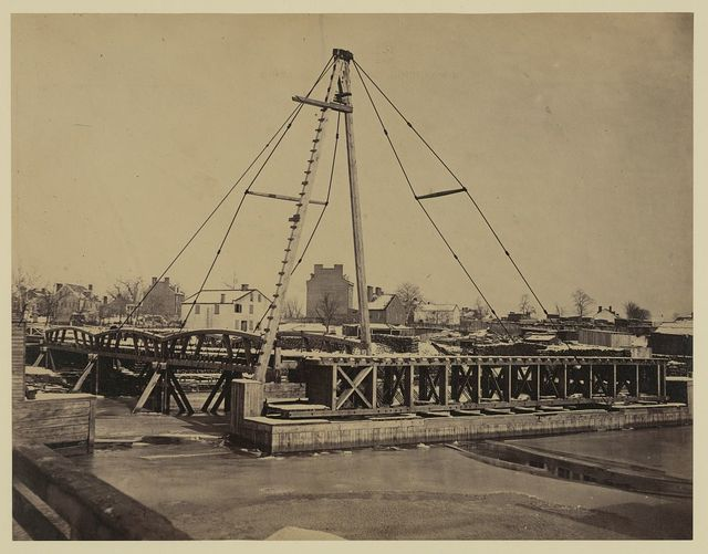 New bridge over Potomac River on the Washington, Alexandria and Georgetown Railroad.  Total length 5,104 feet