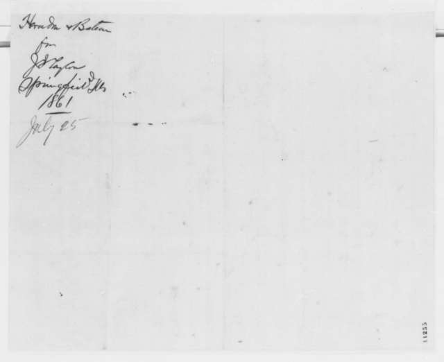 Newton Bateman to Abraham Lincoln, Saturday, August 17, 1861  (Recommendation)