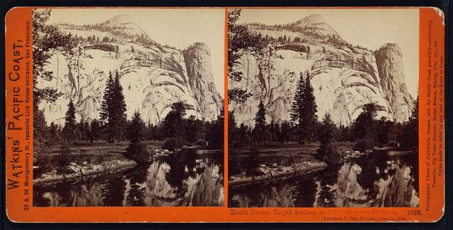 North Dome, Royal Arches, and Washington Column, Yosemite Valley, Mariposa County, Cal.