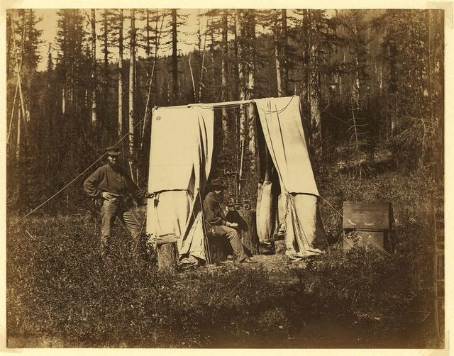 Observatory tent, N. A. [i.e., North American] Boundary Commission