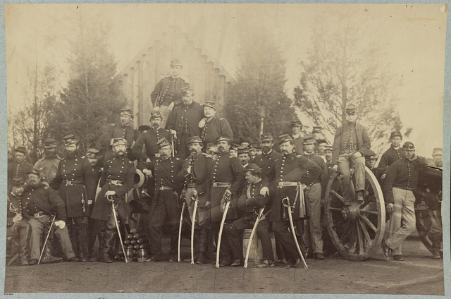 Officers of 1st Battalion New York Light Artillery, Fort Duncan, near Washington, D.C.