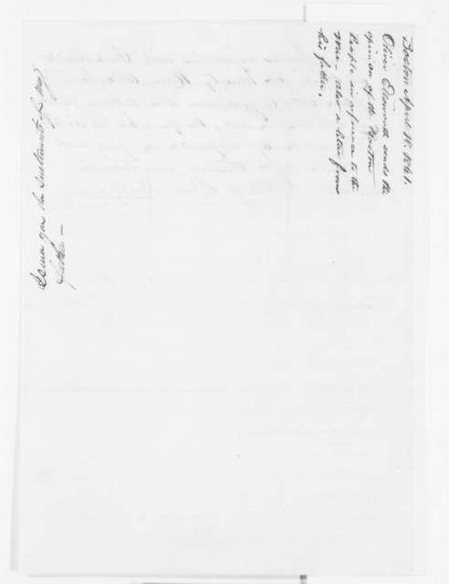 Oliver Ellsworth to Abraham Lincoln, Thursday, April 18, 1861  (Public sentiment in Boston)